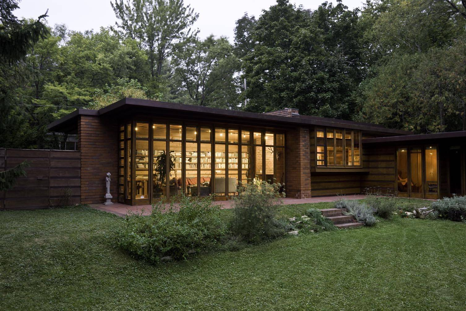 Instant house frank lloyd wright 39 s usonian homes for Usonian house plans for sale