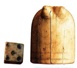 Detalle de la pieza de ajedrez del Castillo de Mataplana