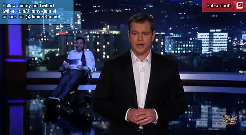 Matt Damon Hijacks Jimmy Kimmel