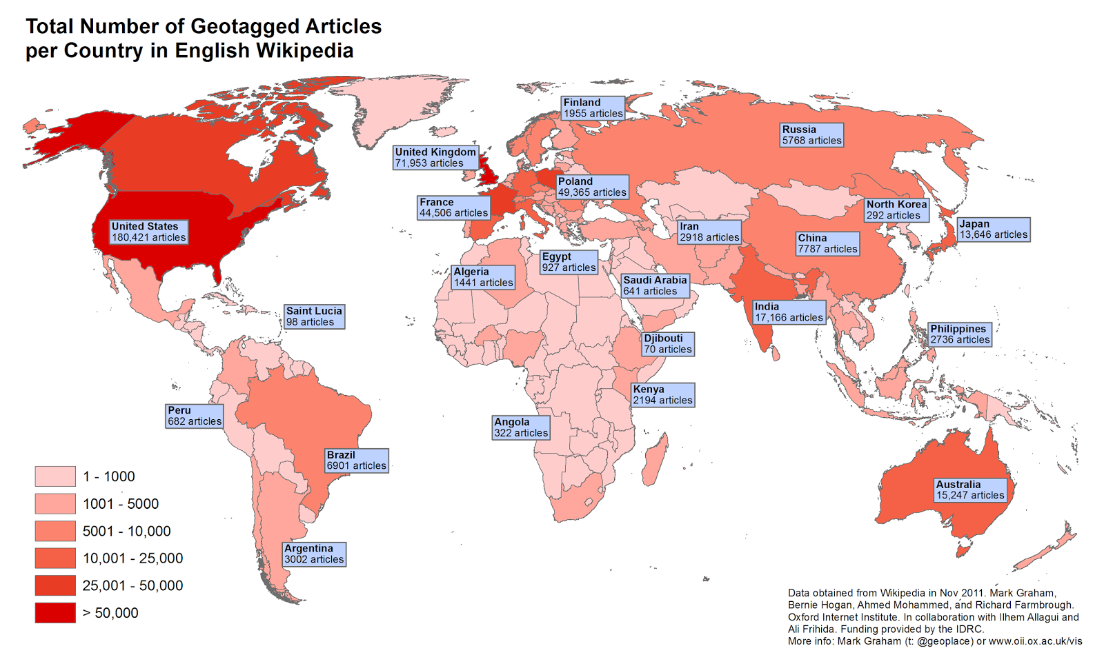 the map above click the image to enlarge it displays the number of articles in english there are a staggering number of articles in the united states
