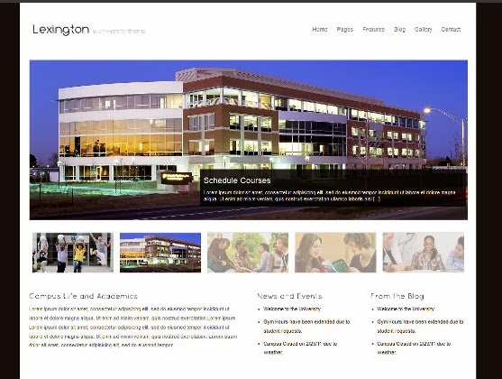 Lexington - University WordPress Theme
