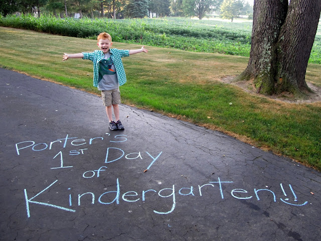 Porter's 1st Day of Kindergarten!