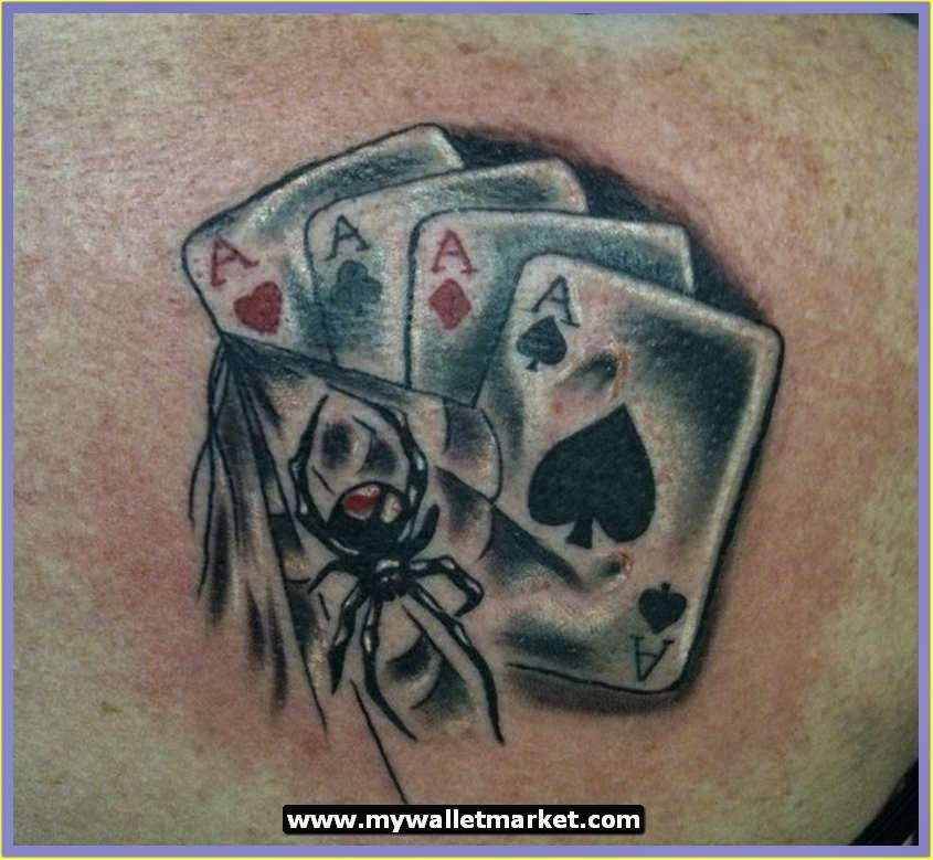 pictures of aces and eights cards tattoo for women
