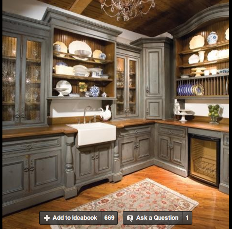 Houzz Painted Kitchen Cabinets