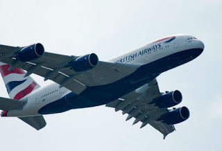 British Airways Airbus A380's flying display at Paris Airshow 2013 [Photo: Airbus]