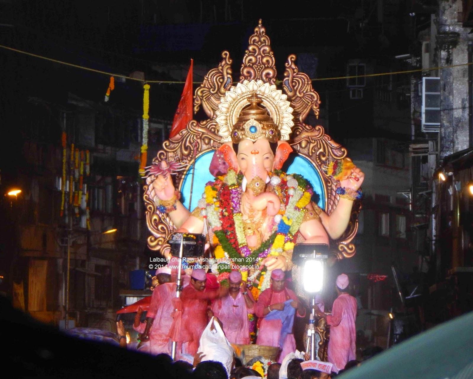 """""""Ganpati Visharajan Darshan Girgaum Chaupati 2014"""""""