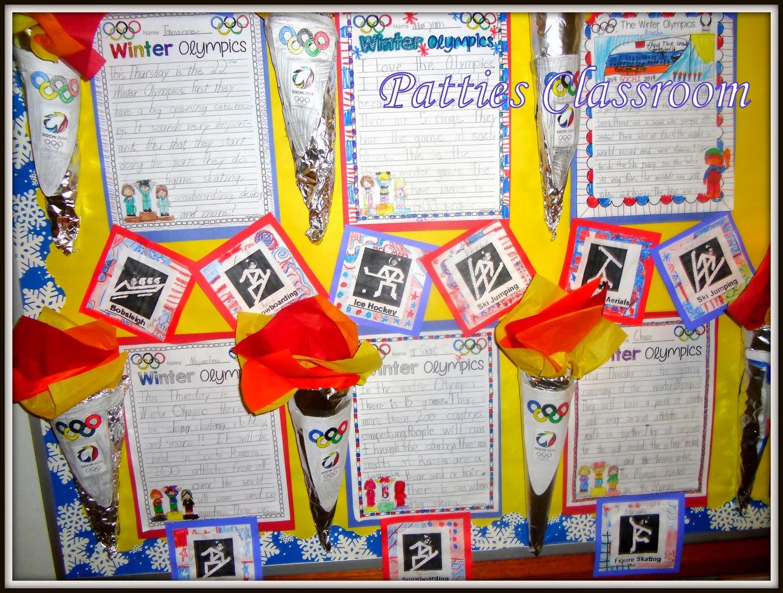 Classroom Olympics Ideas ~ Patties classroom winter olympics activities and olympic