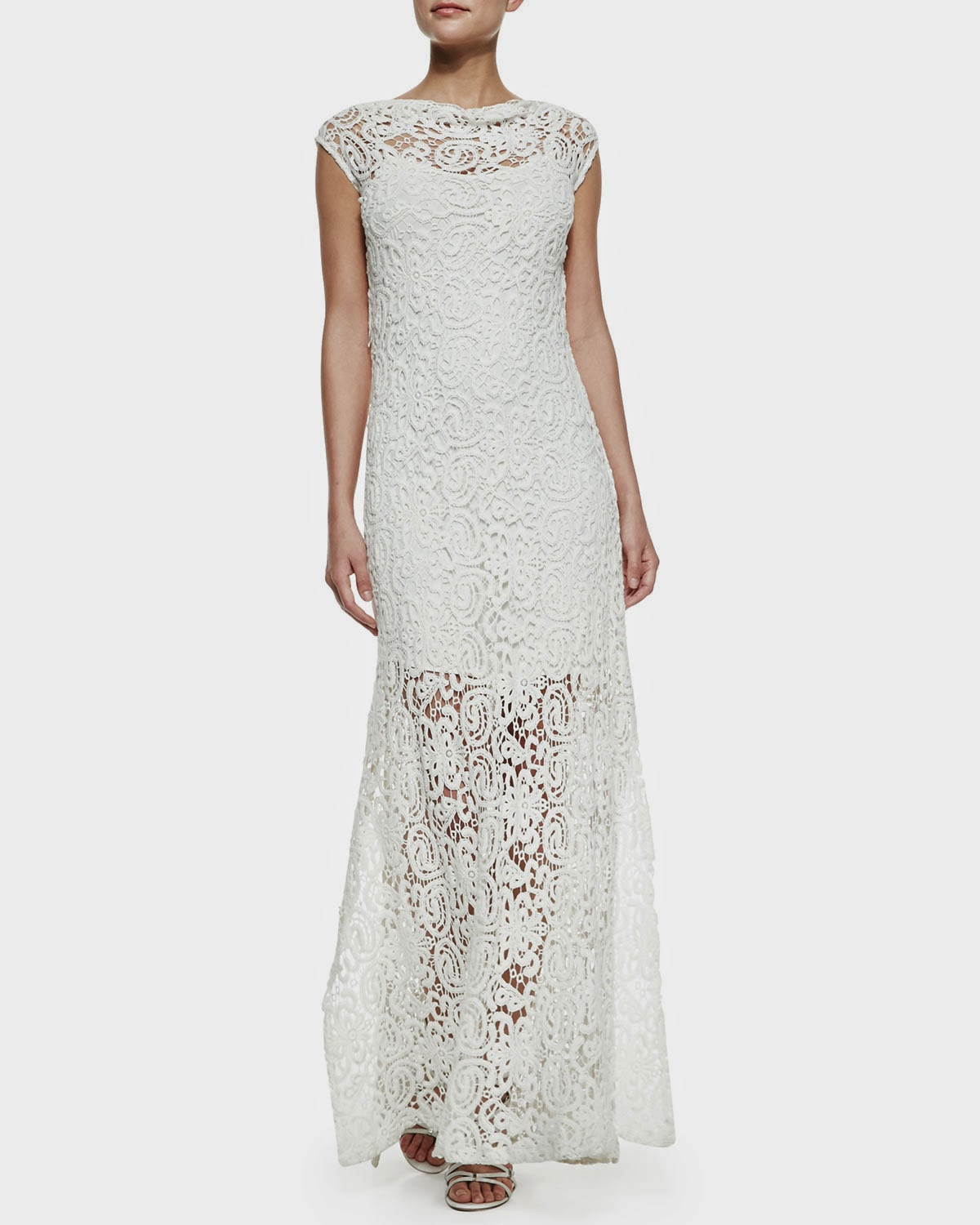 Miguelina Crochet Maxi Dress - Affordable Wedding Dresses: Crochet