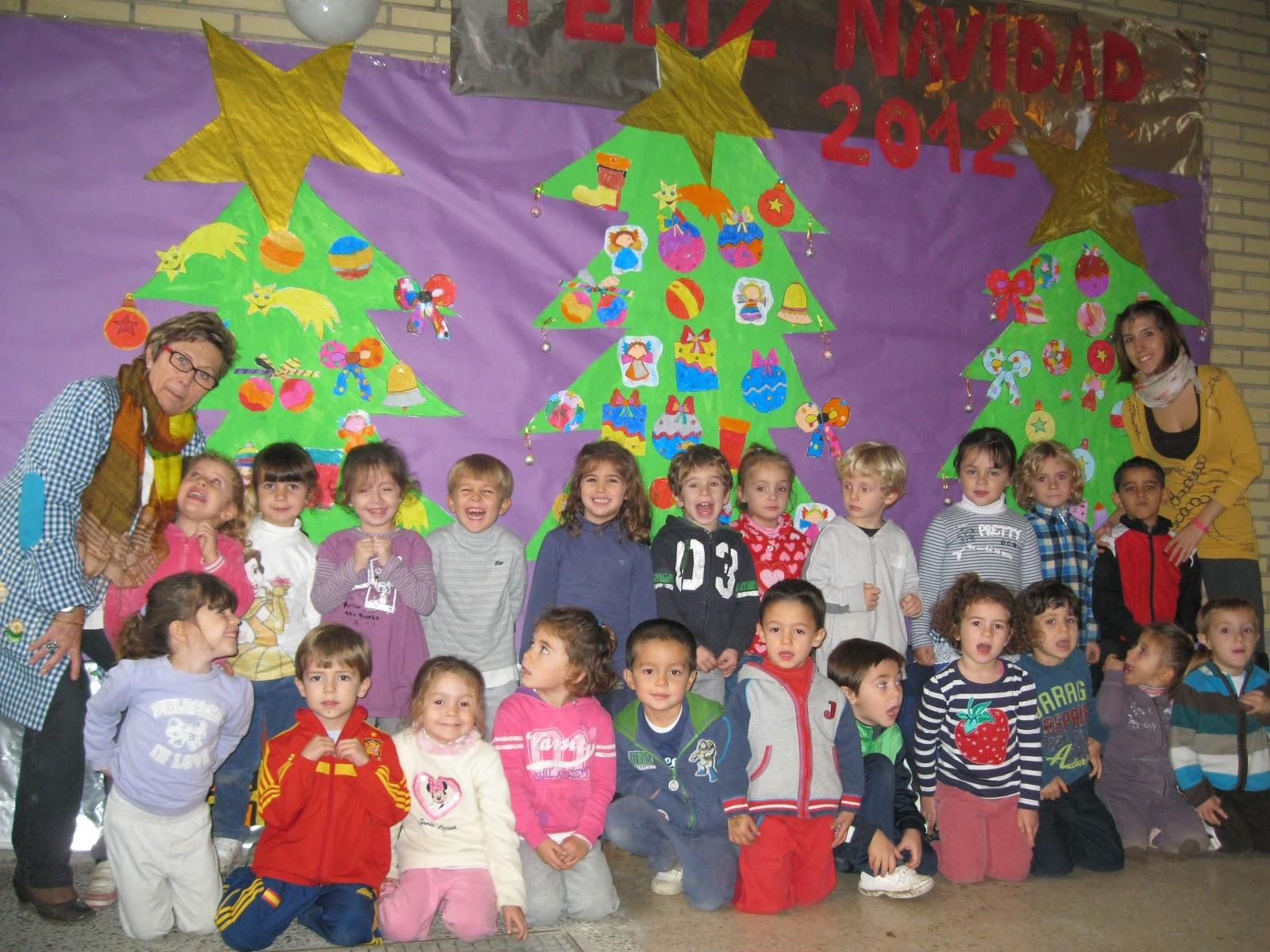 Blog de tercero diciembre 2012 for Mural navideno