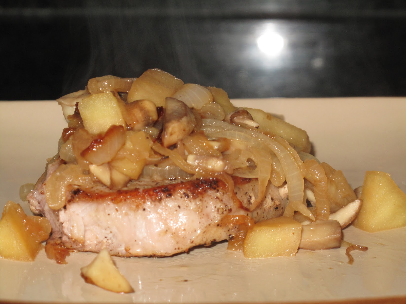 BJ Brinker's Home Cooking: Pork Chops with Caramelized ...