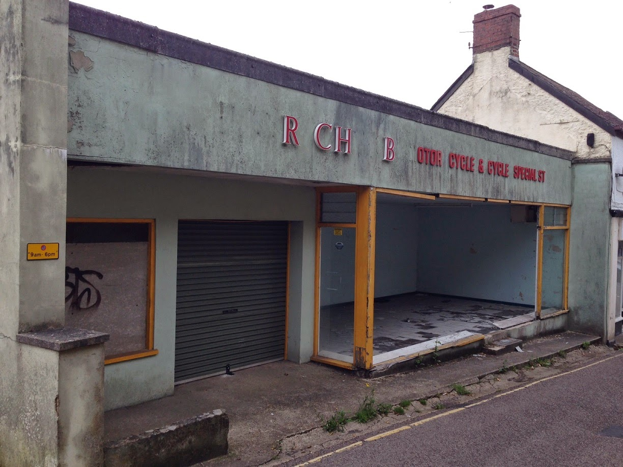 Abandoned bike shop, Axminster, Devon