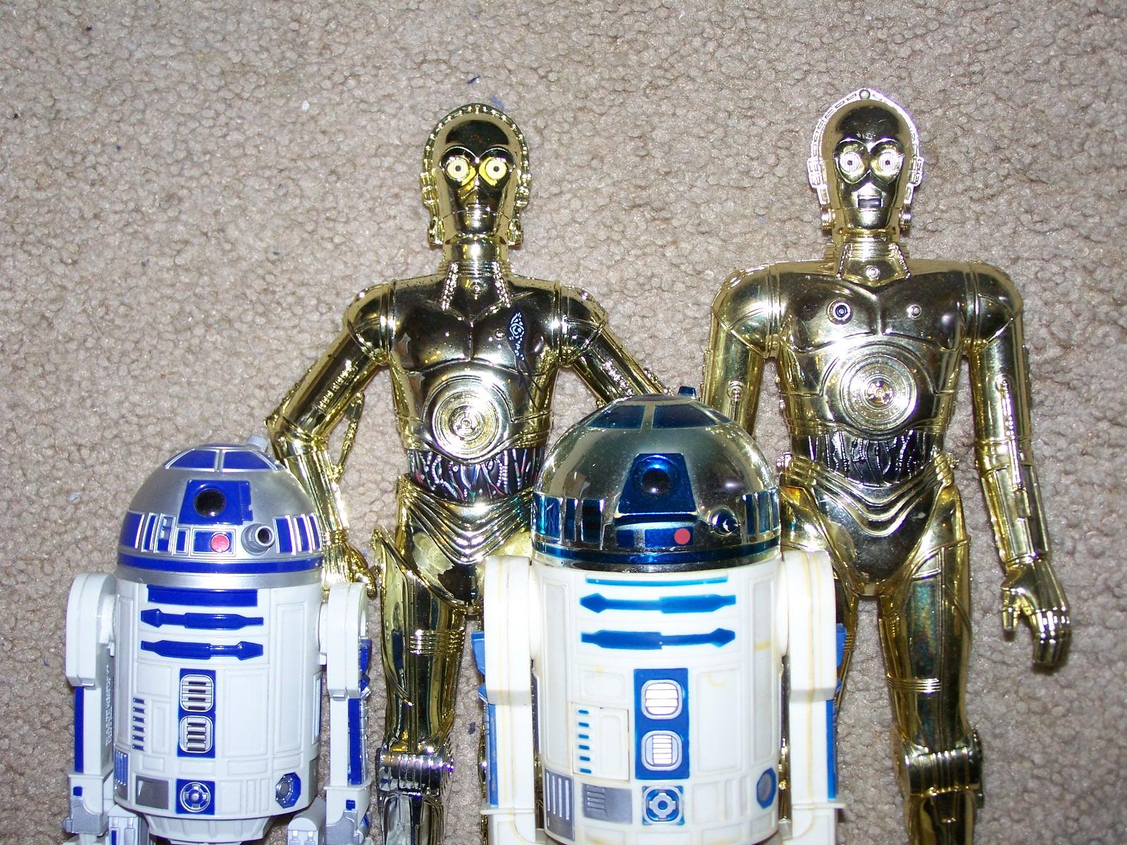 R2d2 And C3po Toys : R d and c po kenner vs hasbro