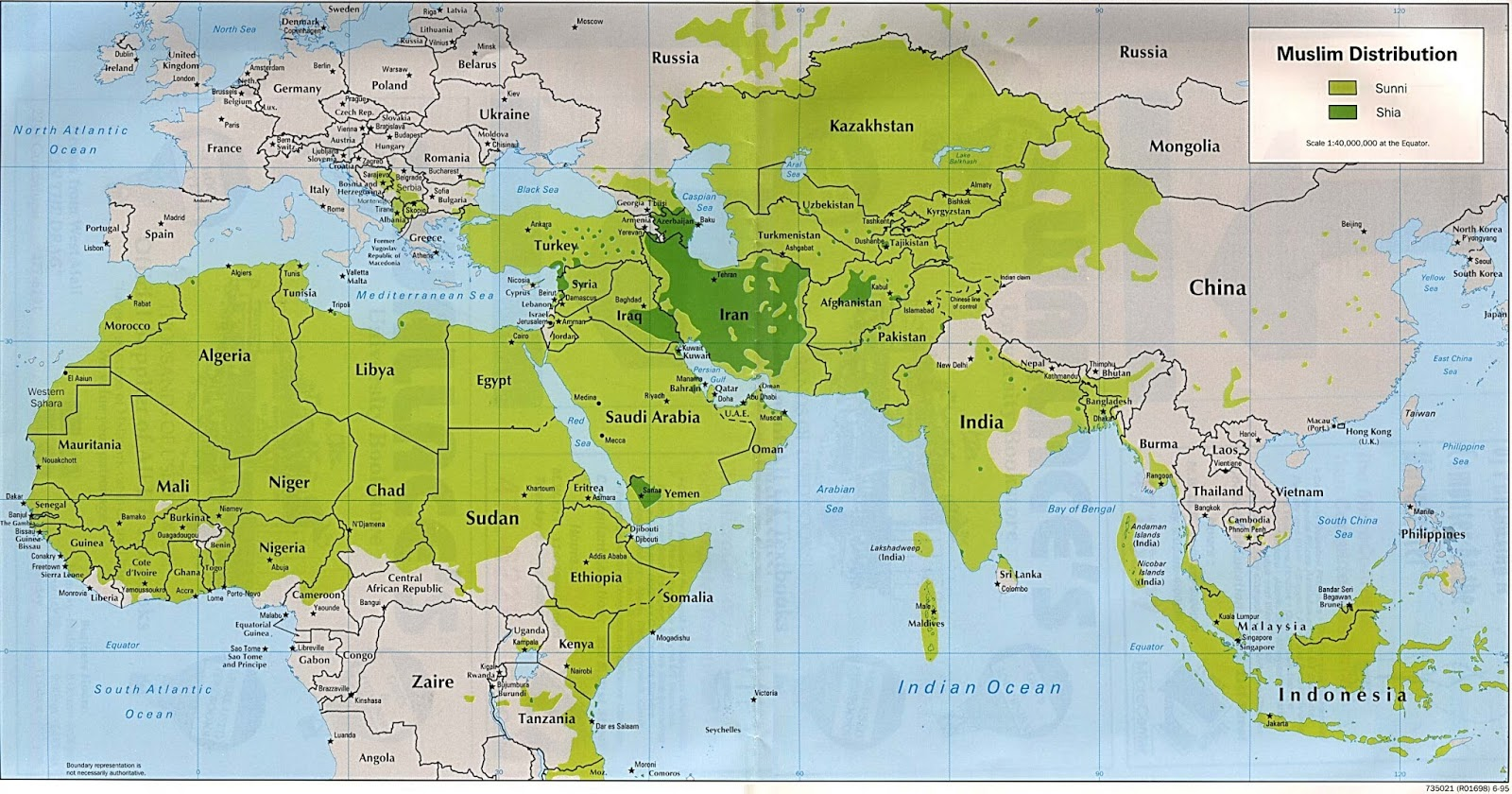 Muslim world geography of the muslim world map showing physical features of the muslim world gumiabroncs Gallery