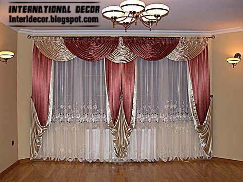 5 contemporary curtain designs with drapes colors for Modern living room curtain designs pictures