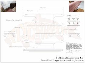 Standamaran SUP Plans Foam Blank Step 6