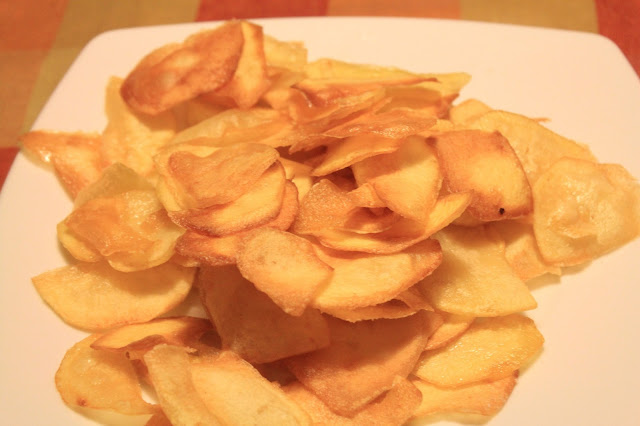 hacer patatas chips