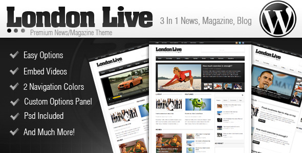 Image for London Live 3 In 1 – Magazine / Blog Theme by ThemeForest