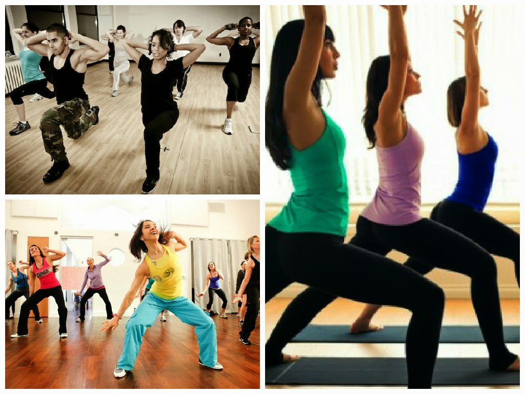 yoga, boot camp, zumba workout