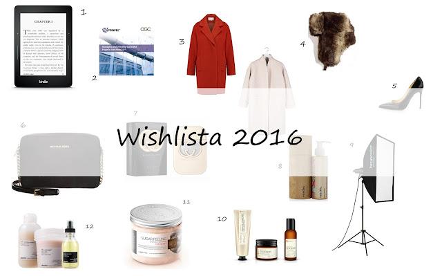 Wishlista 2016 - kosmetycznie, ubraniowo, książkowo i zawodowo