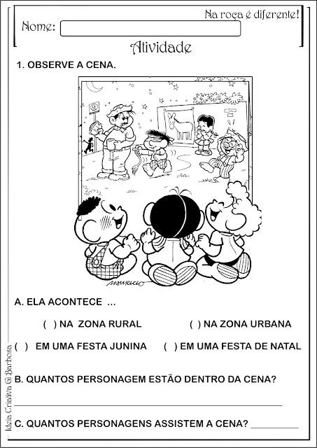 Atividade Interdisciplinar Educação Infantil Festas Juninas