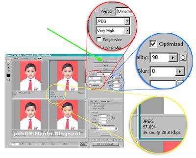Memperkecil parameter ukuran foto