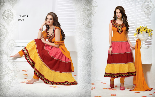 Evelyn Sharma Georgette Long Anarkali Suit