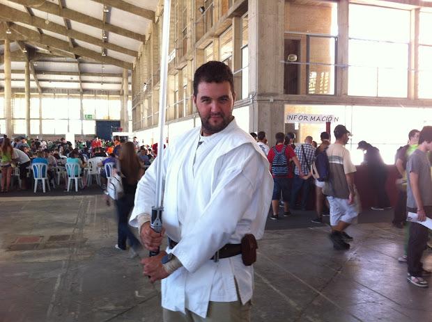 Un Jedi  en la Comic Con Spain 2012