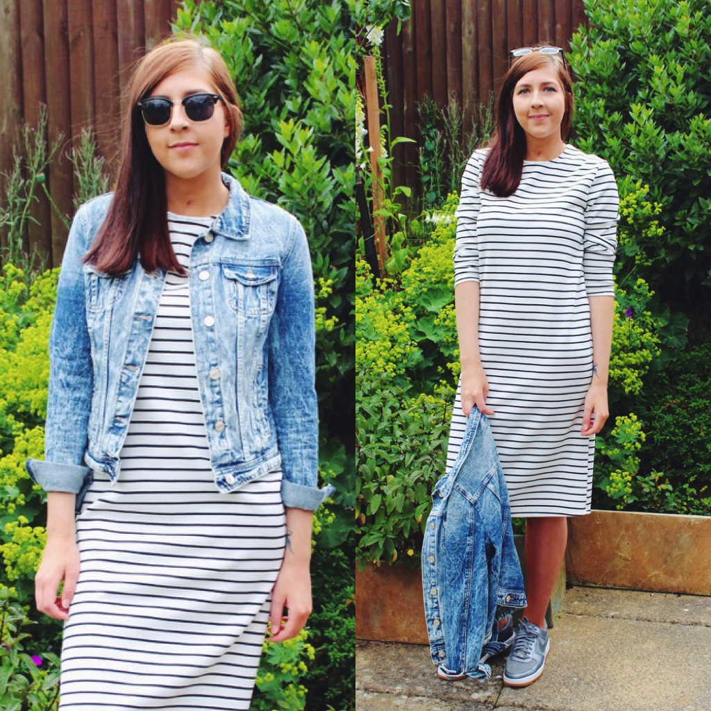 fbloggers, fblogger, denimjacket, ASOS, stripedmididress, asosreclaimedvintage, retrosunglasses, primark, wiw, whatimwearing, asseenonme, fashionbloggers, fashionblogger,nike, nikeairforceones, ootd, outfitoftheday, lookoftheday, lotd