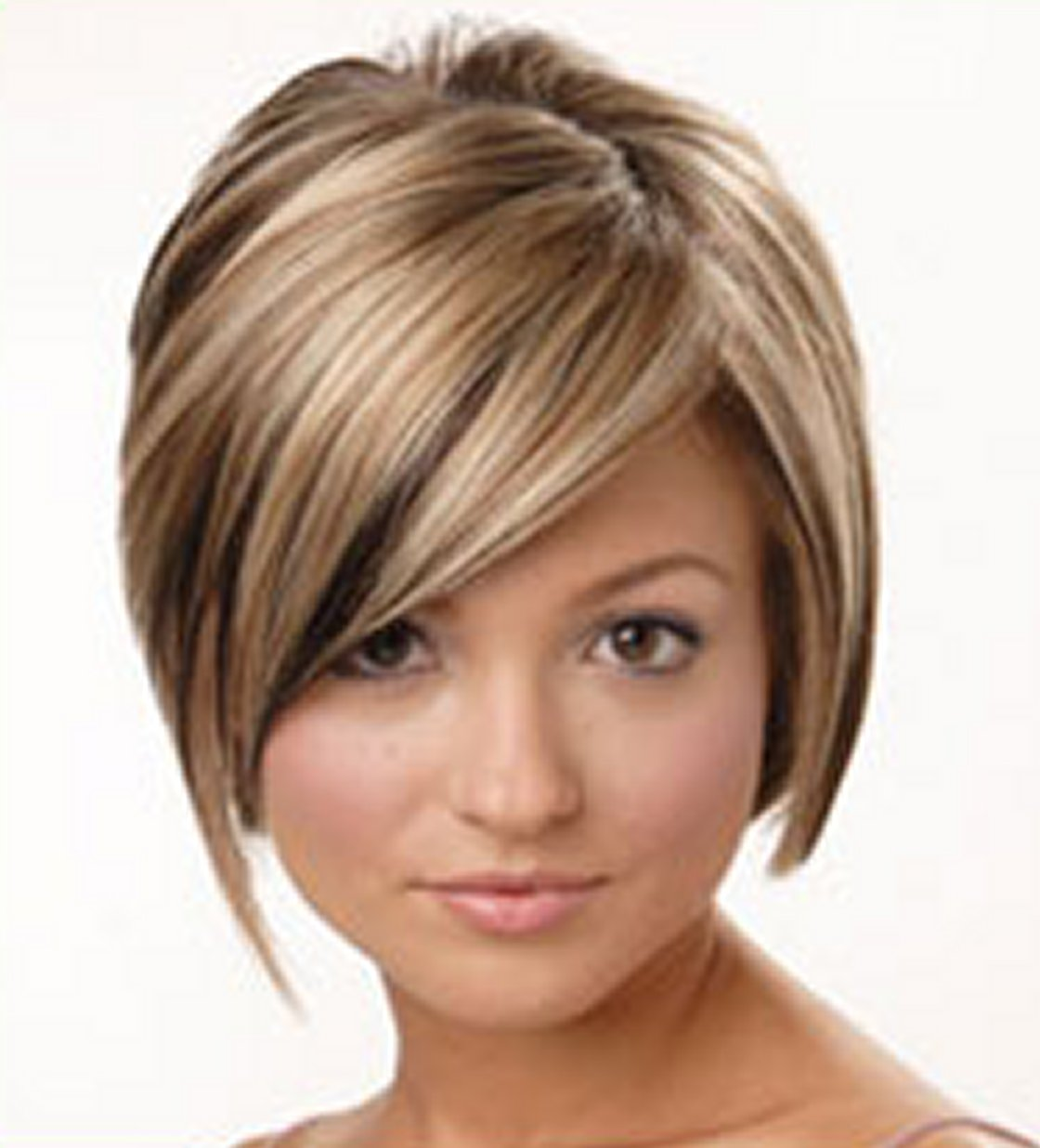 Short Hairstyle Round Face