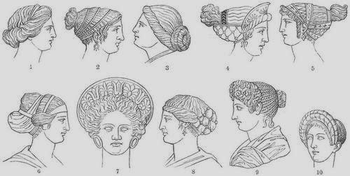Del 1 al 8 se corresponde con peinados Griegos. 9 y 10 son romanos.