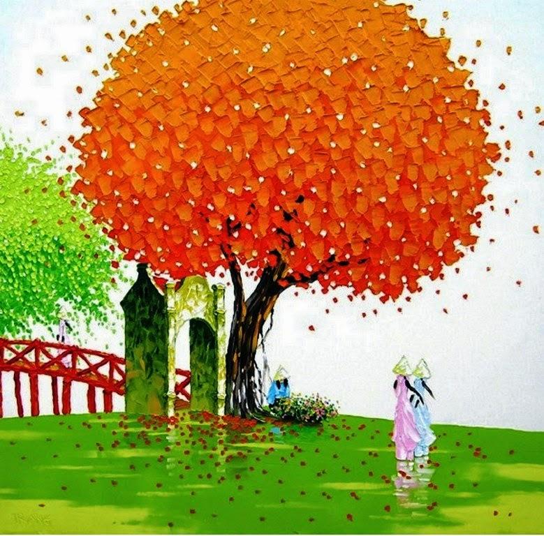 Imágenes Arte Pinturas: Oleos modernos de paisajes con arboles ...