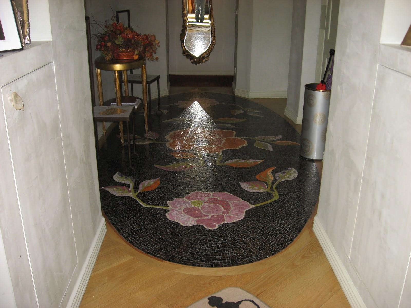 Pietre e colori tappeto di foglie in mosaico - Tappeto ingresso ...