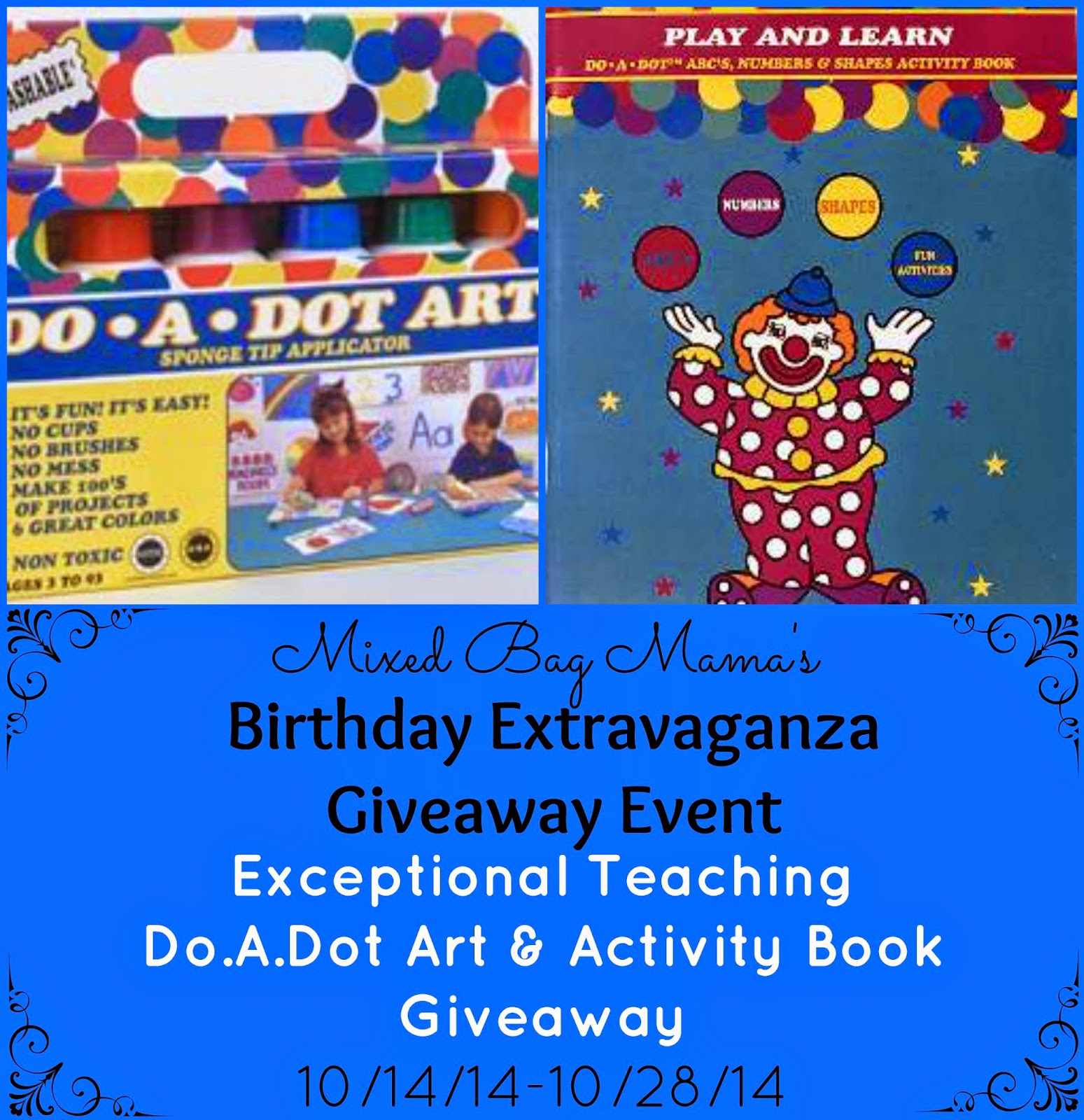 Enter the Exceptional Teaching Do.A.Dot Marker Giveaway. Ends 10/28.