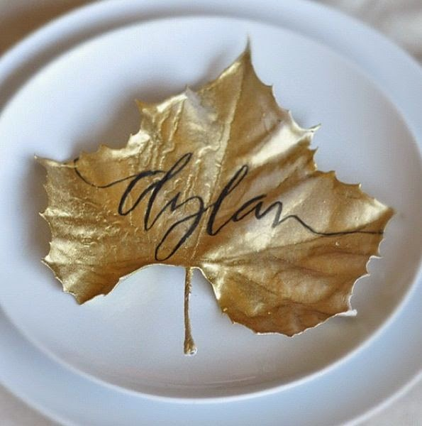 http://www.taryncoxthewife.com/thanksgiving-gold-leaf-place-card/