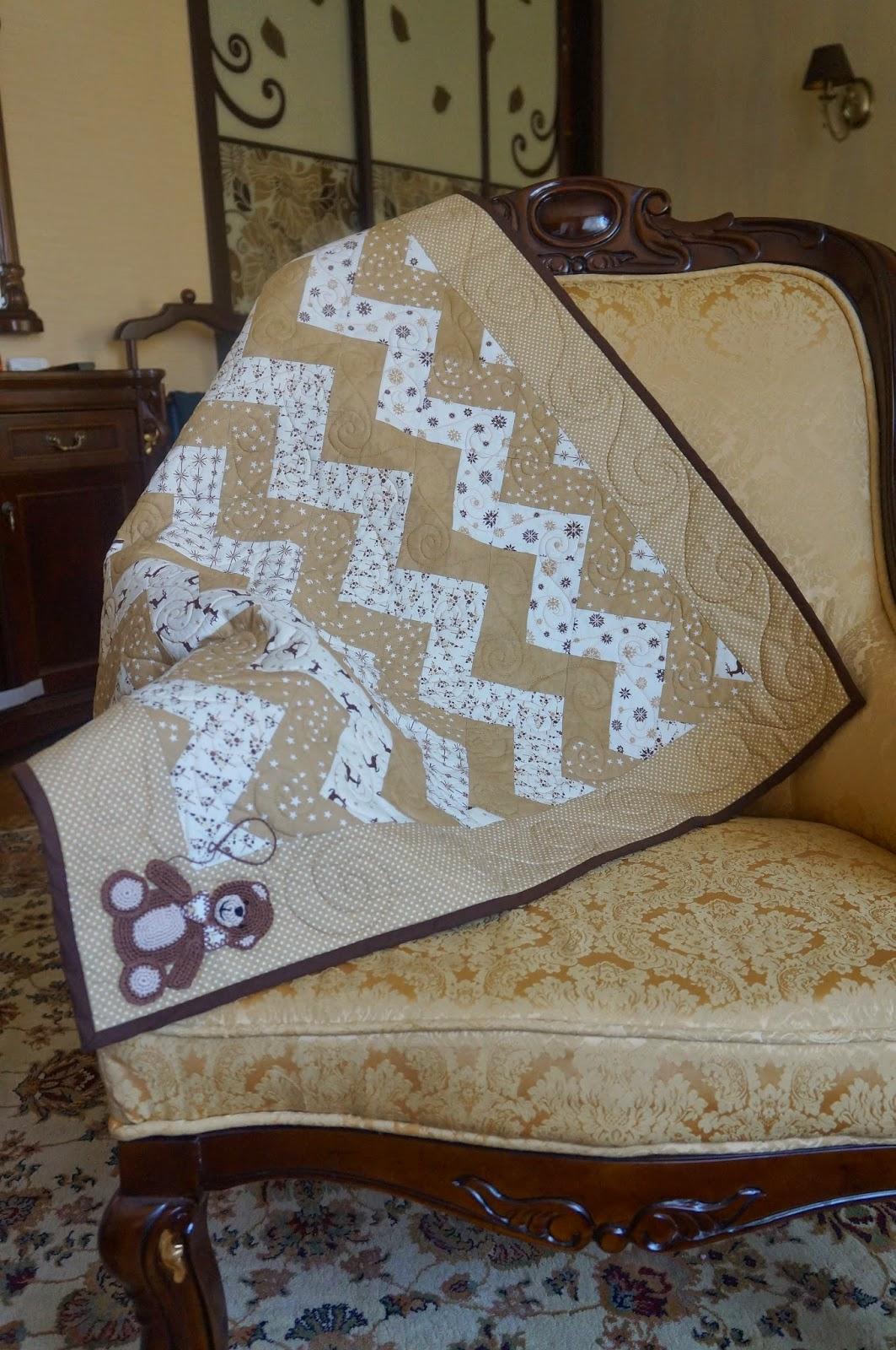 Одеяло зигзаг