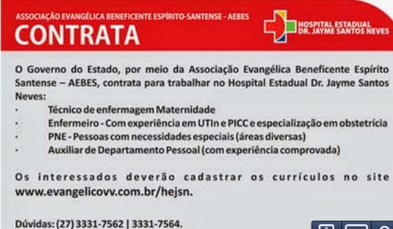 Cursos na area hospitalar