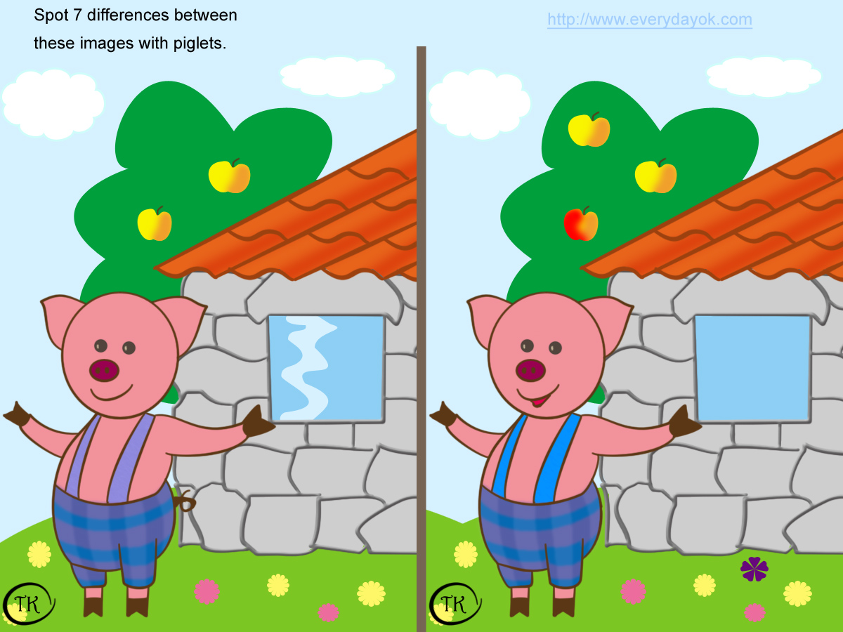 ... PUZZLES: FIND THE DIFFERENCE, QUIZ FOR KIDS, QUIZ FOR CHILDRENS
