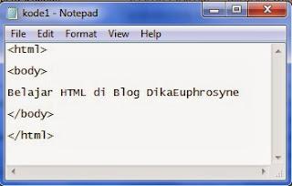 belajar menulis kode HTML