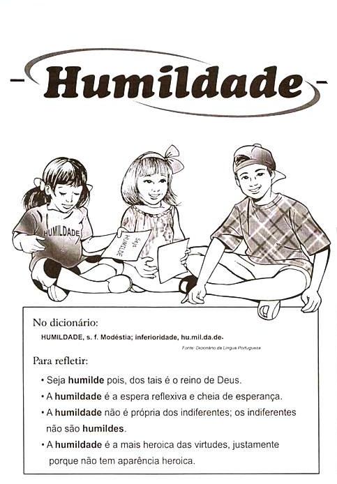 Atividade De Ensino Religioso   Humildade