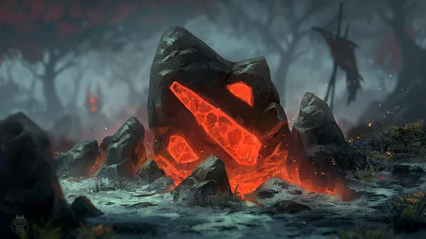 dota 2 logo stone fire game hd 1920x1080 1080p