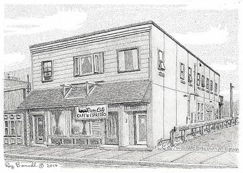 Sketches Of Alaska Gilcher Building In Fairbanks Displays