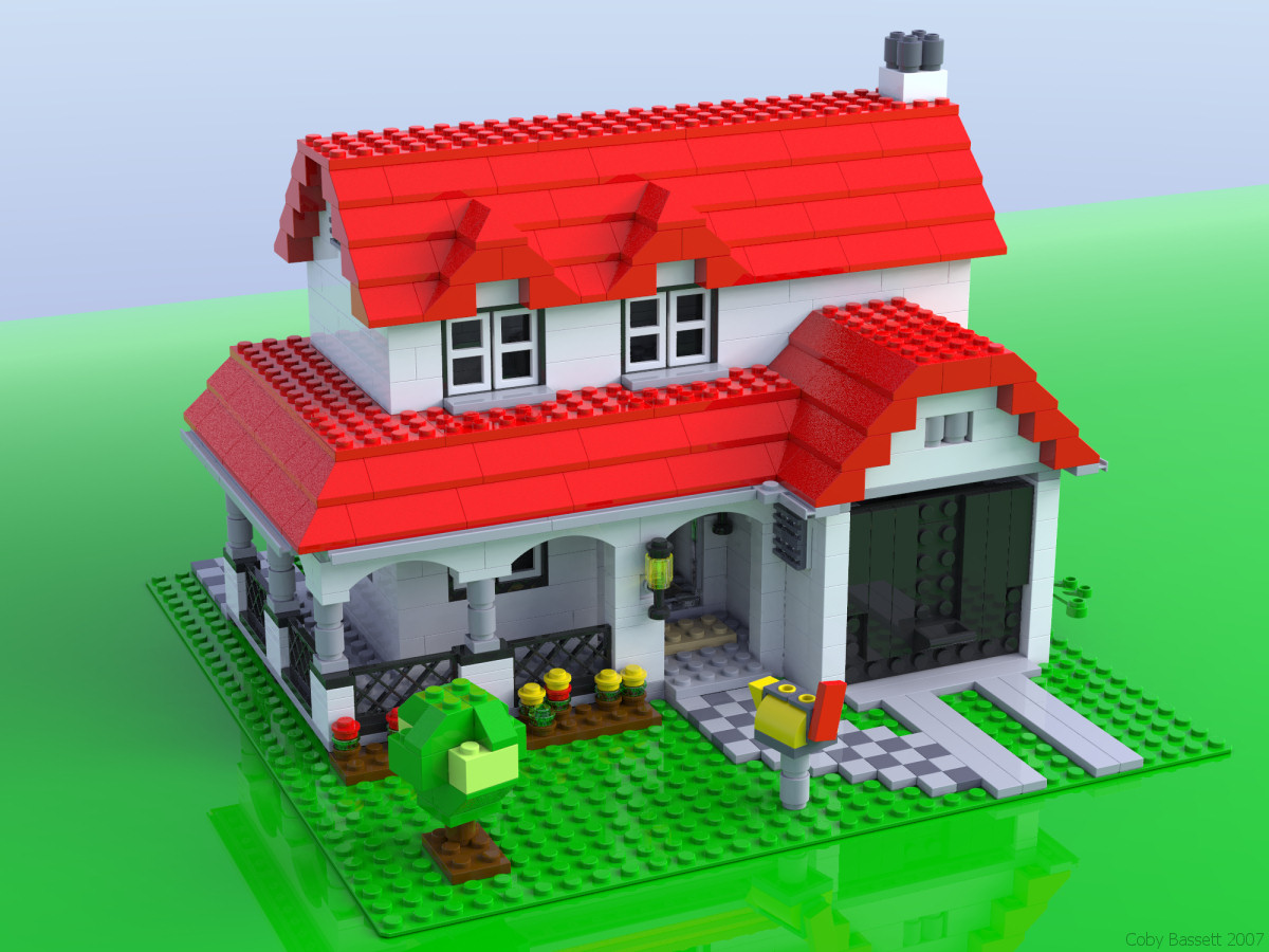 Ray Traced Lego Mania 4956 Creator House