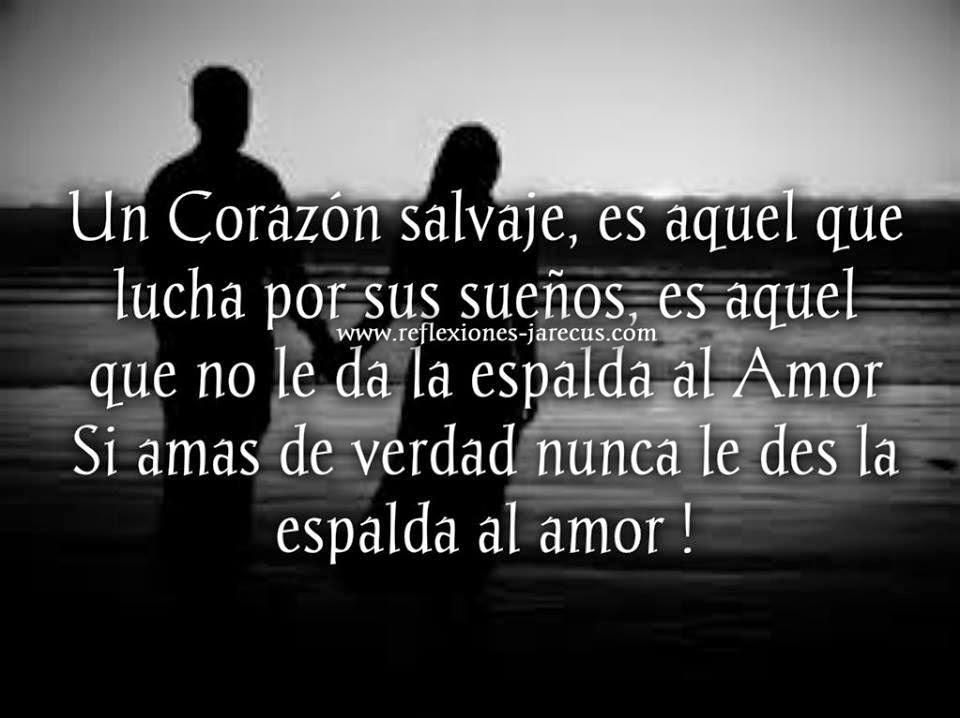 Un Corazón salvaje es aquel que lucha por sus sueños, es aquel que no le da la espalda al Amor.