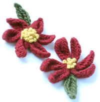 Free Crocheting Patterns: Poinsettia Flower