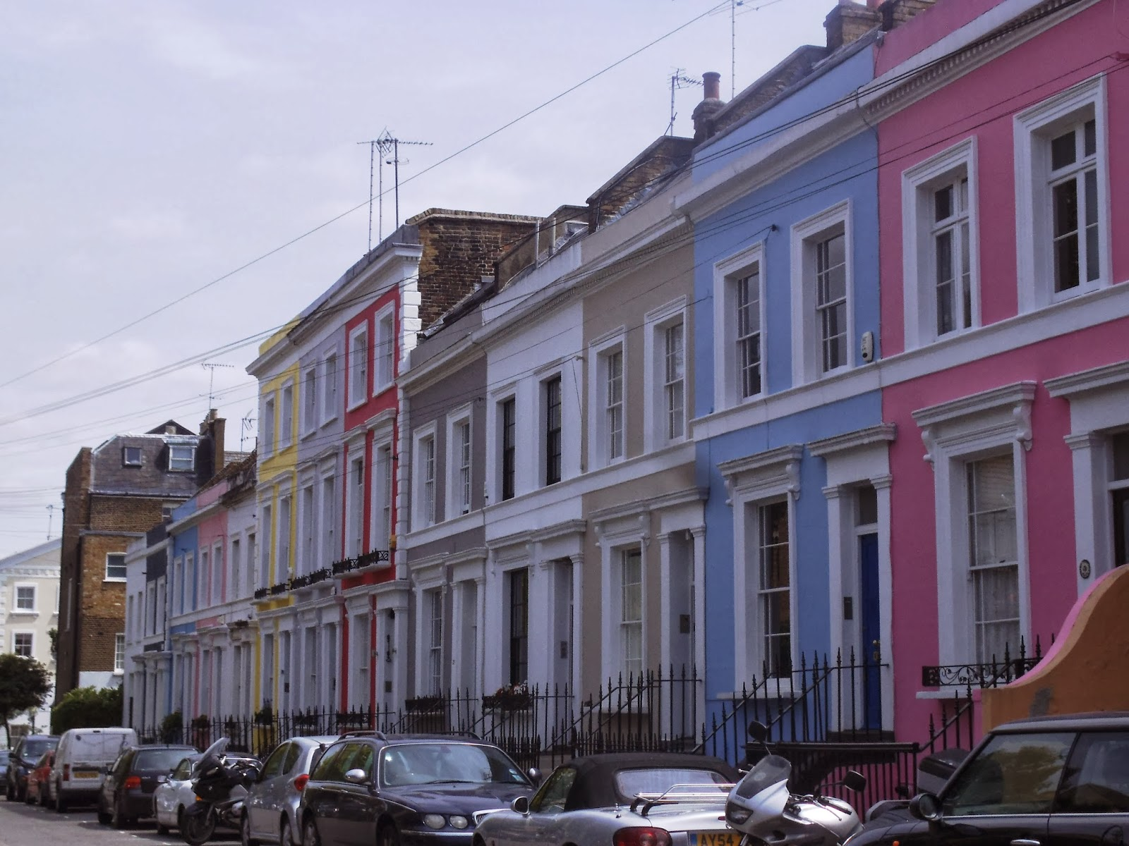 My life in london barrios de londres notting hill - Casas victorianas londres ...