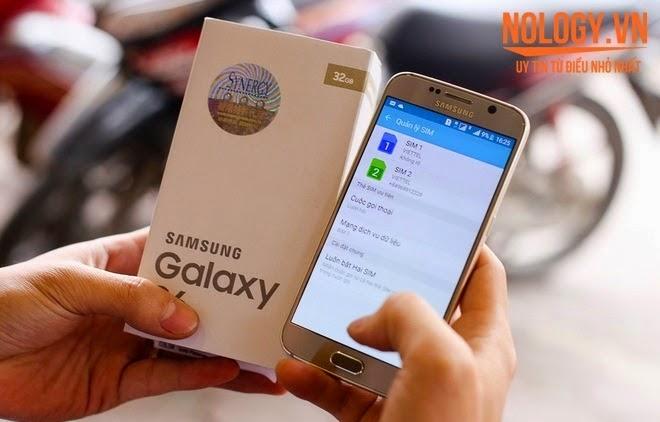 Cận cảnh Samsung Galaxy S6  2 sim 2 sóng xách tay ở Việt Nam