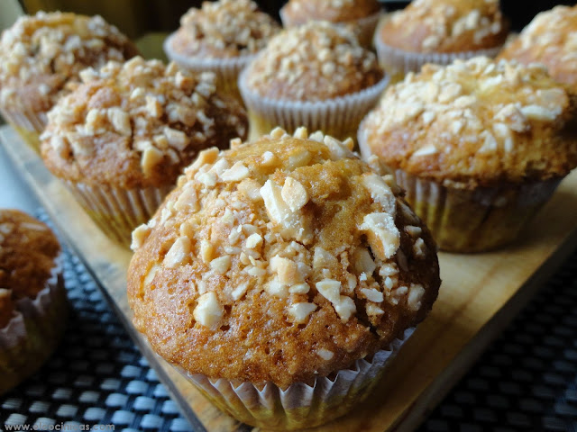 Muffins de almendras e higos