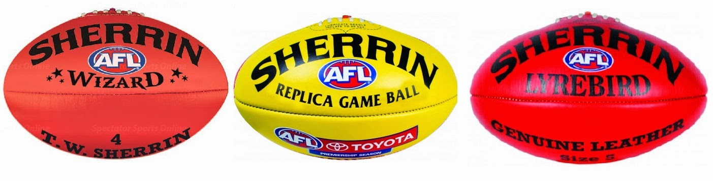 AFL lyrevird, wizard, replica game ball