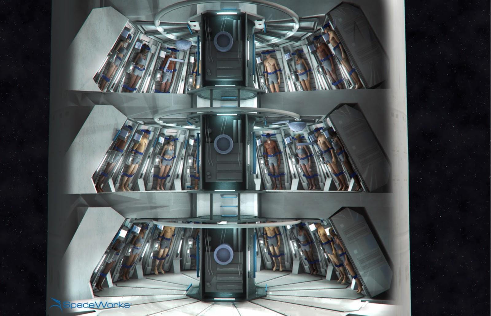 space torpor  mars colony transfer habitat design preview