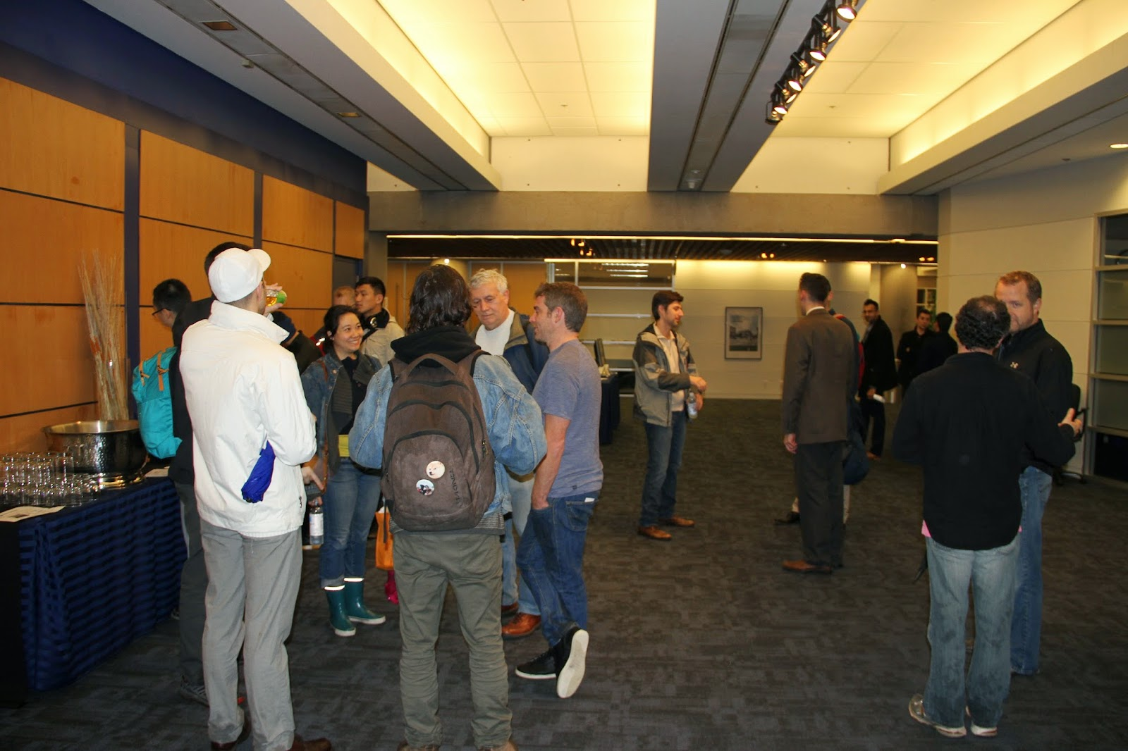 Networking reception at UBC Robson Square Cinema in downtown Vancouver